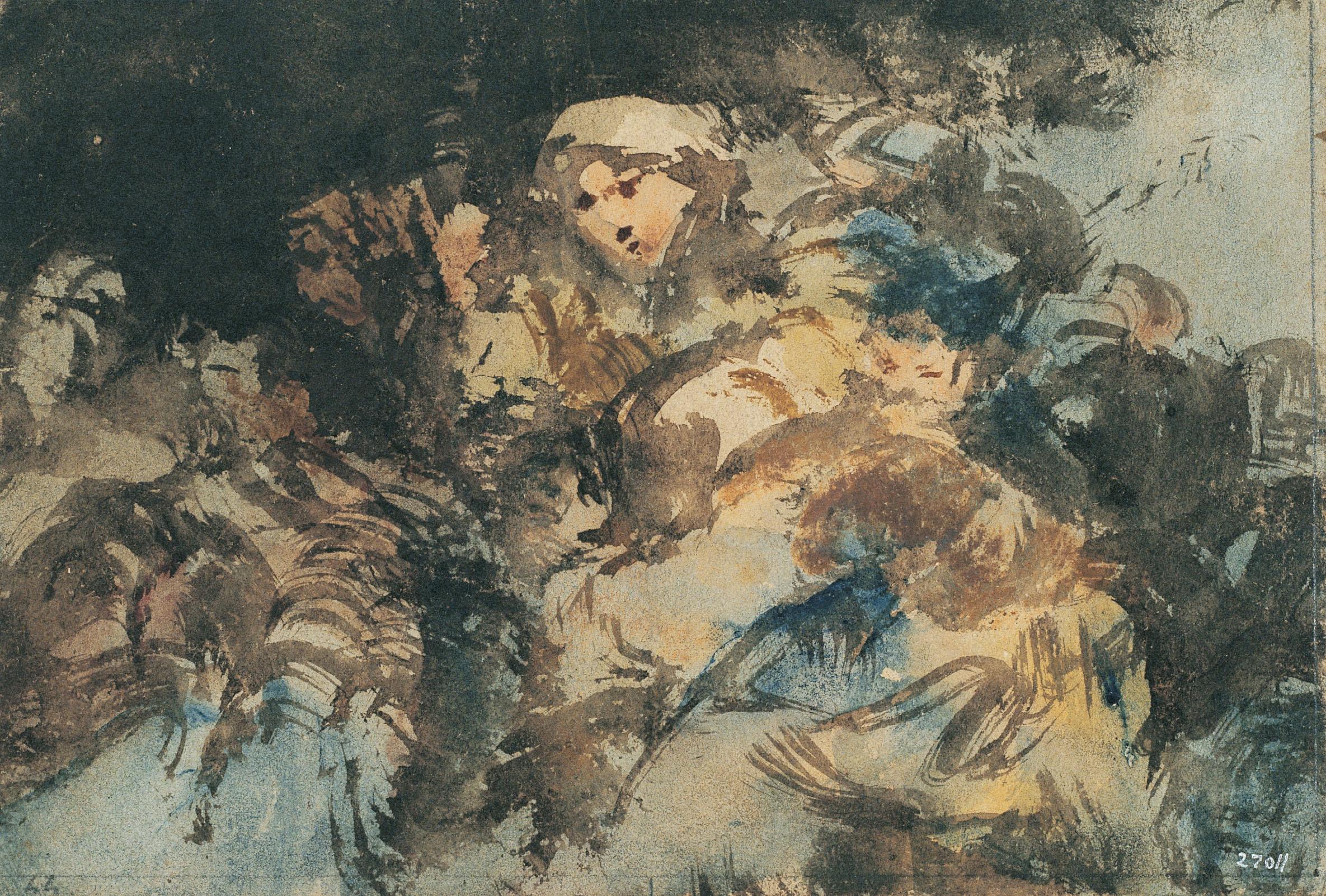 Eugenio Lucas Velázquez - Grup de bruixes [?] - Cap a 1850-1860