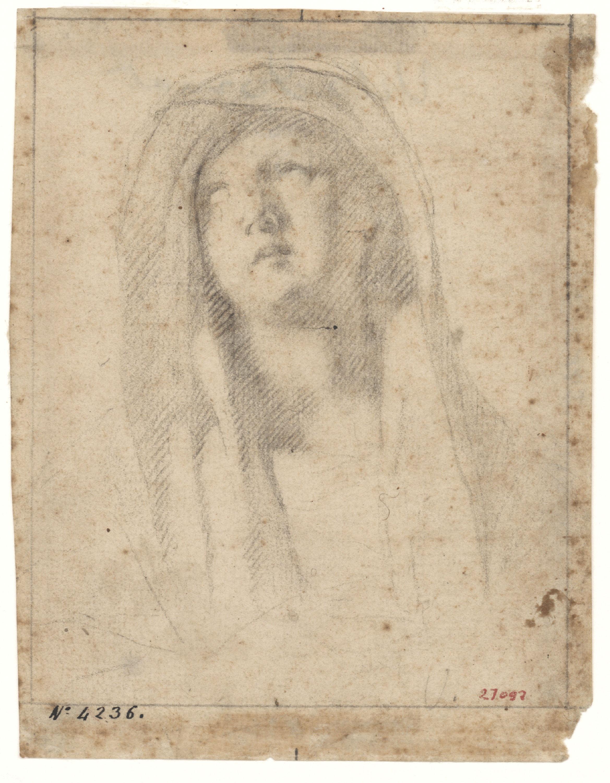 Antoni Viladomat - Estudi per a la «Pietat» del retaule de la capella dels Dolors de la basílica de Santa Maria de Mataró - Cap a 1727-1729