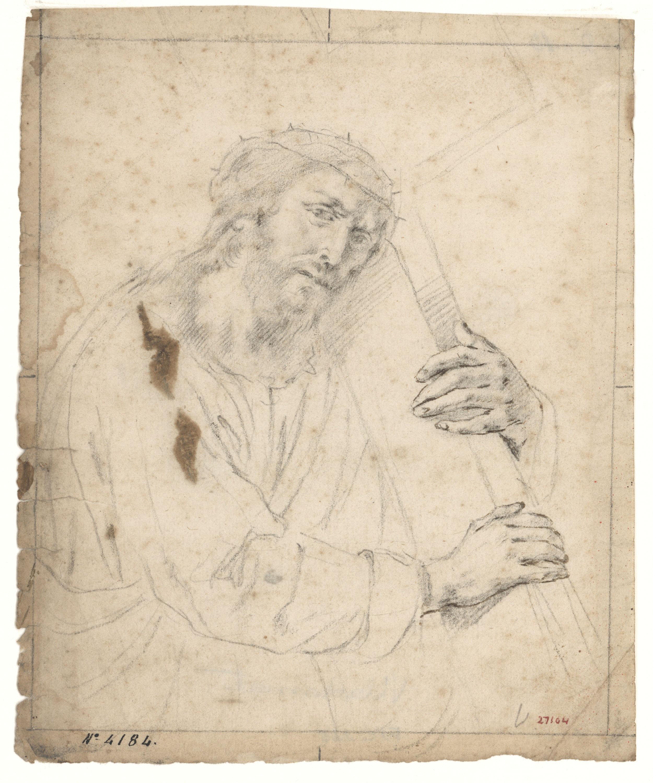 Antoni Viladomat - Christ Clasping the Cross - Circa 1720-1740