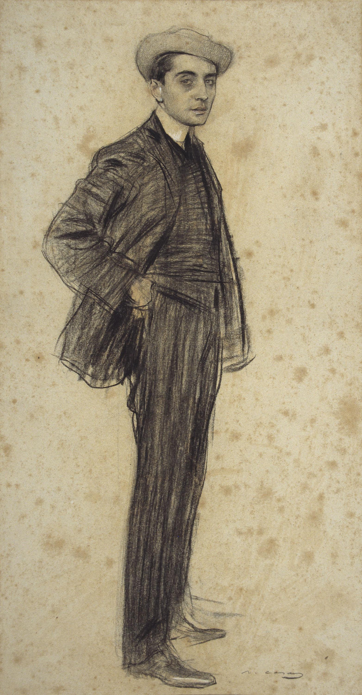 Ramon Casas - Portrait of Xavier Gosé - Circa 1903