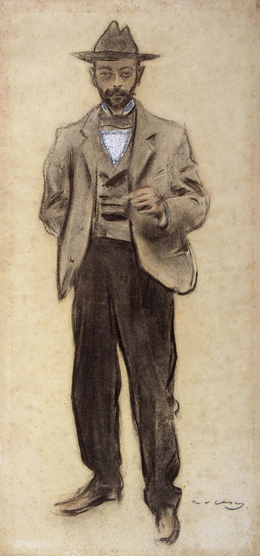 Ramon Casas - Portrait of Manolo Hugué - Circa 1897-1899