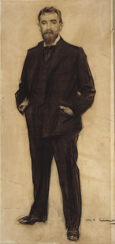 Ramon Casas - Portrait of Miquel Blay - Circa 1900