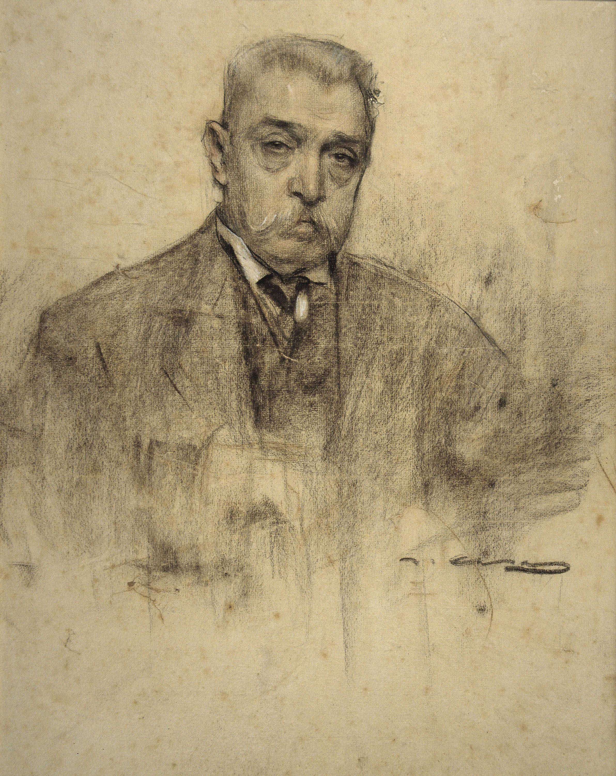 Ramon Casas - Portrait of Pere Falqués - Circa 1905-1907