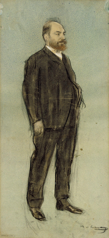 Ramon Casas - Retrat de Josep Pascó - Cap a 1897-1899