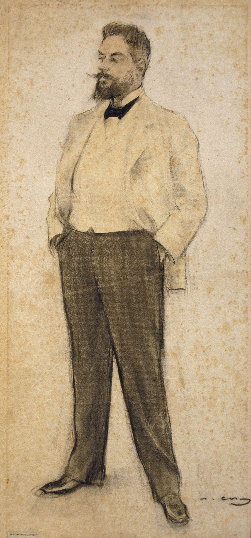 Ramon Casas - Retrato de Hermenegild Miralles - Hacia 1897-1899