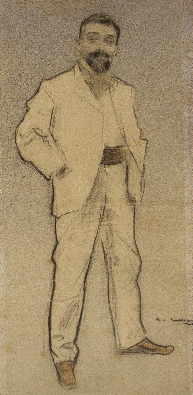 Ramon Casas - Retrat de Josep Cusachs - Cap a 1897-1899