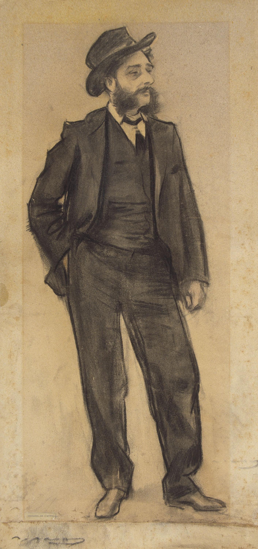 Ramon Casas - Retrat de Maurici Vilomara - Cap a 1897-1899