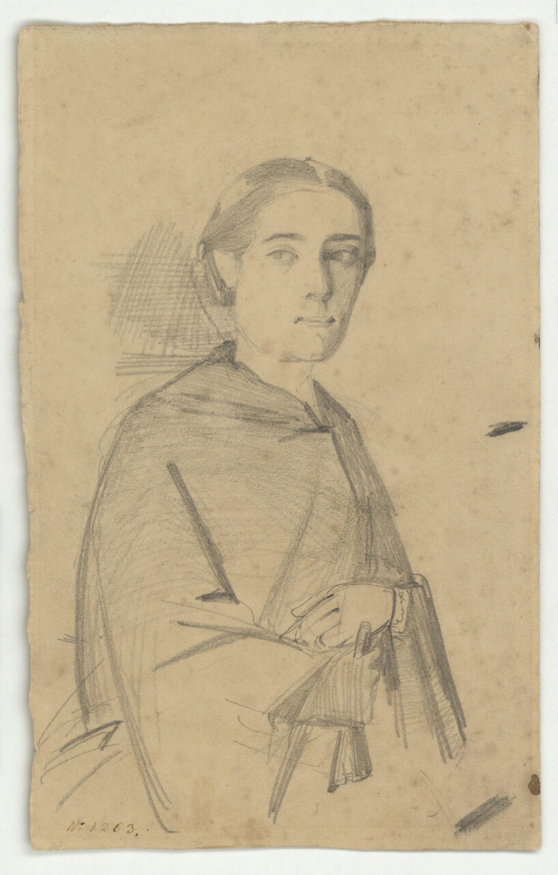 Marià Fortuny - Retrat femení - Cap a 1856-1858