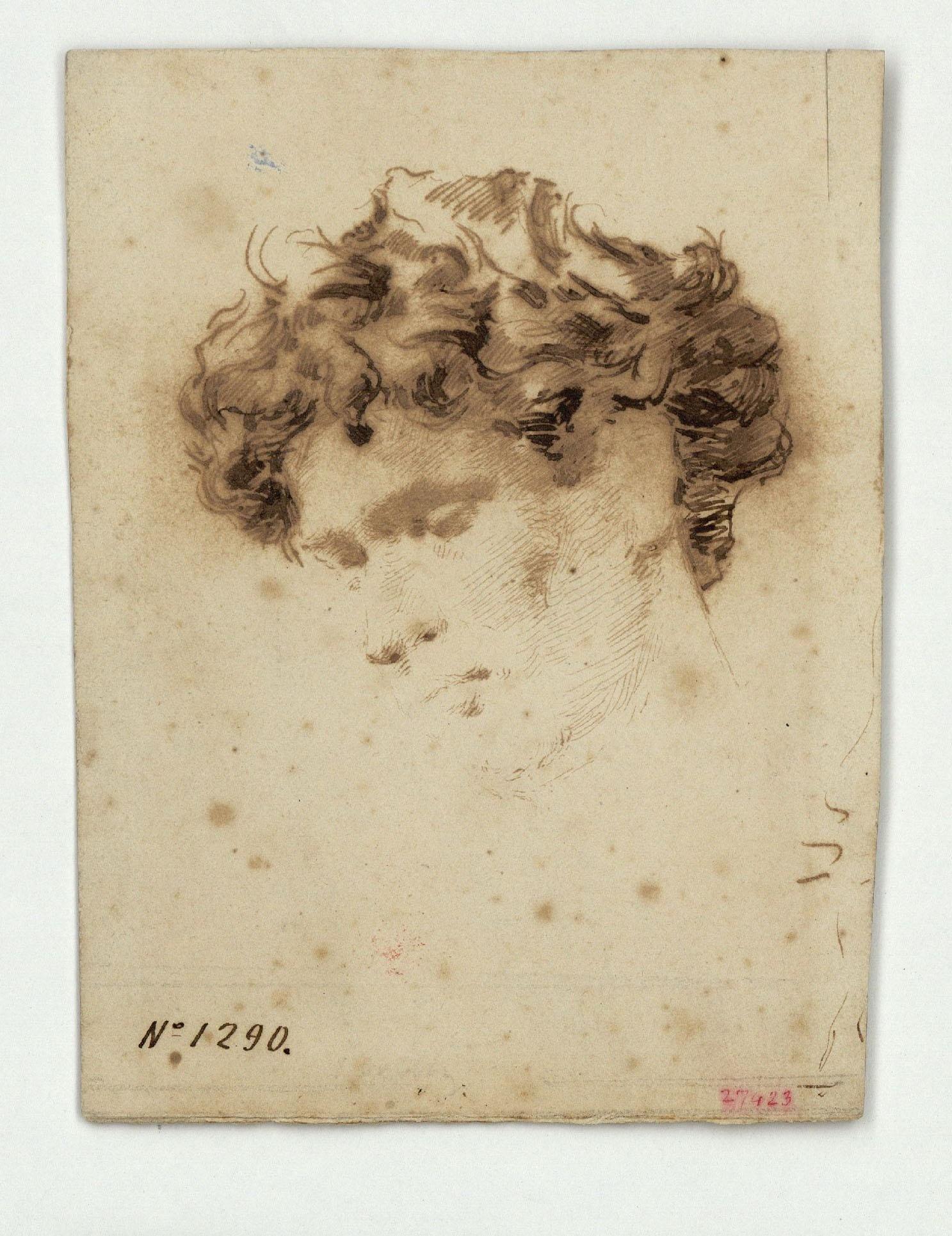 Marià Fortuny - Estudi per al gravat «La Victòria» - Cap a 1869