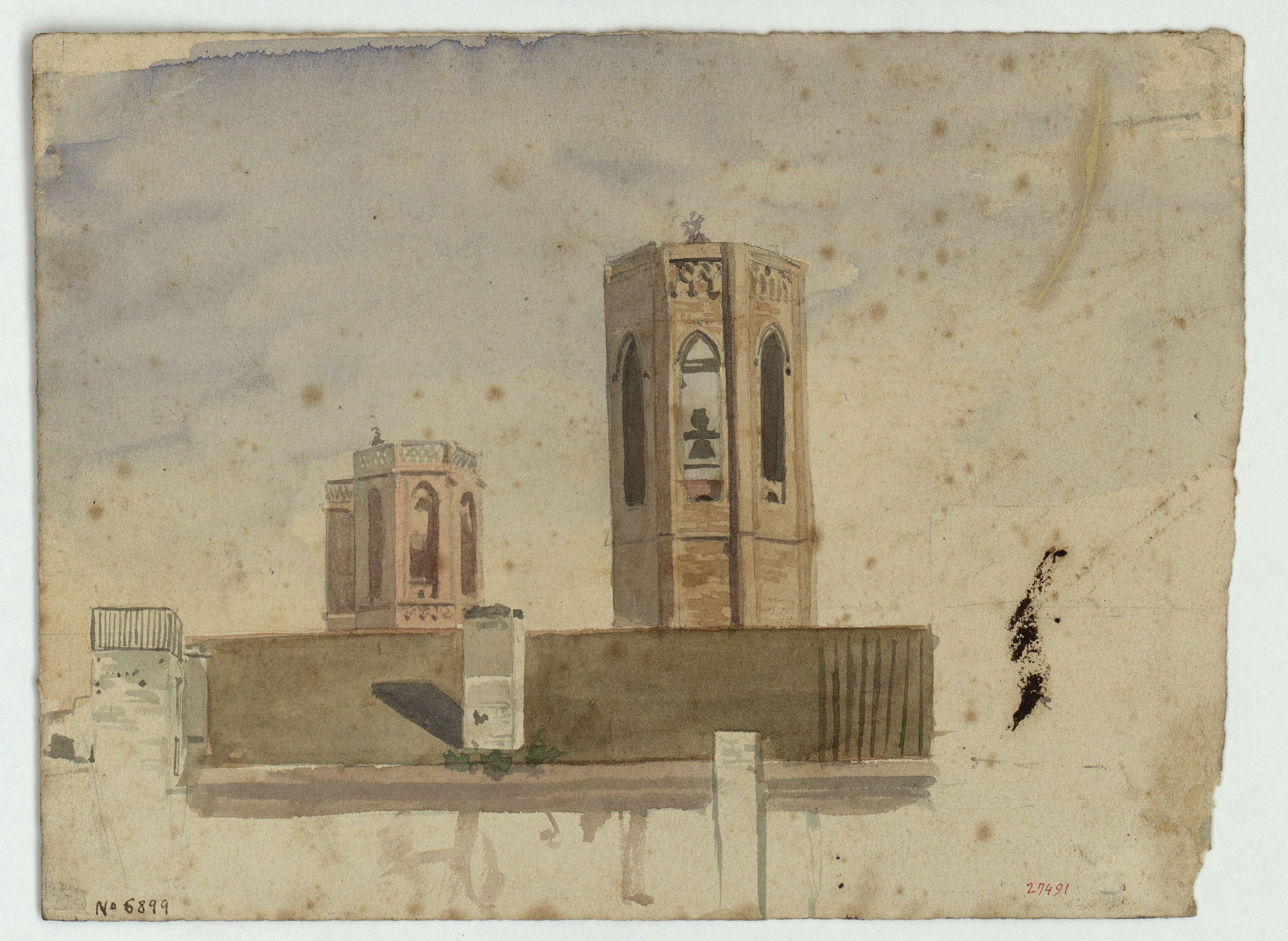 Marià Fortuny - Pedralbes - Circa 1856-1858