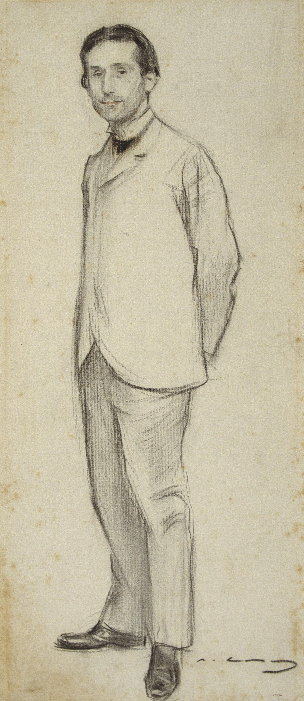 Ramon Casas - Retrato de Pompeu Fabra - Hacia 1900-1902