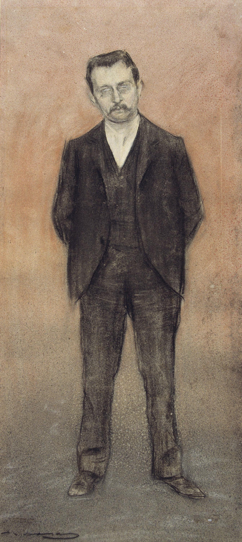 Ramon Casas - Retrat d'Enric Prat de la Riba - Cap a 1897-1899