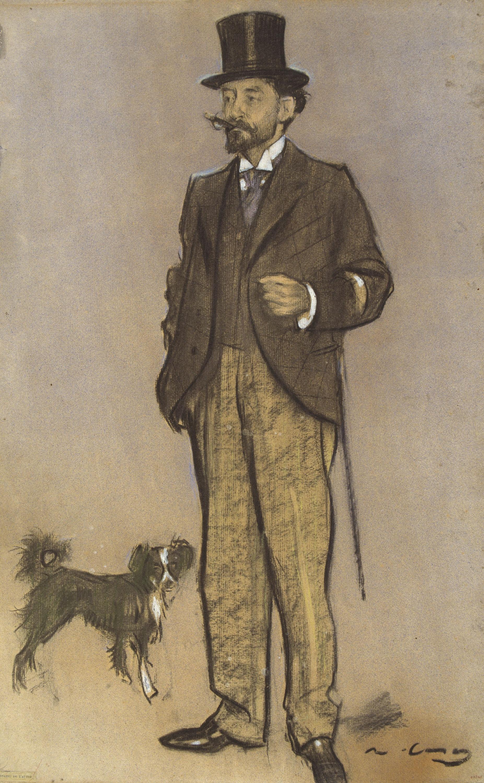 Ramon Casas - Retrat de Lluís Figuerola - Cap a 1897-1898