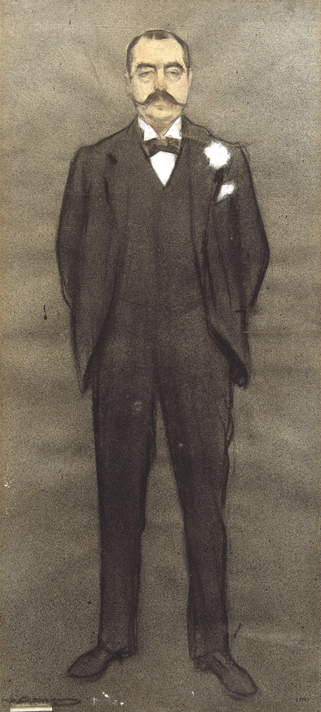 Ramon Casas - Portrait of Albert Bernís - Circa 1897-1899