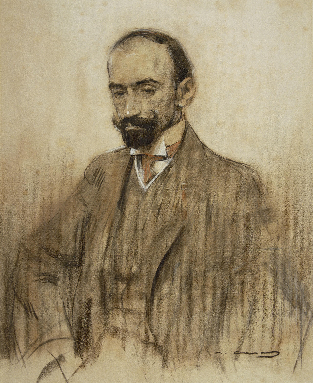 Ramon Casas - Retrat de Jacinto Benavente - Cap a 1904-1905