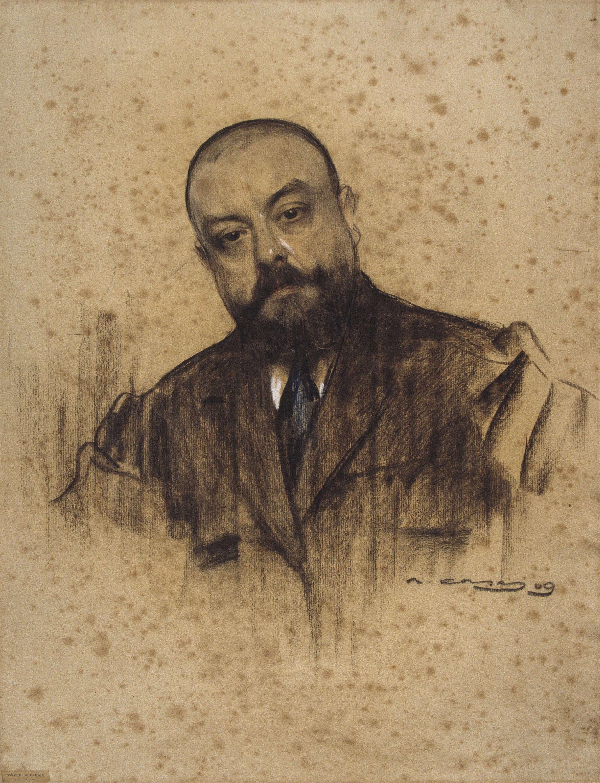 Ramon Casas - Retrato de Miquel dels Sants Oliver - 1909