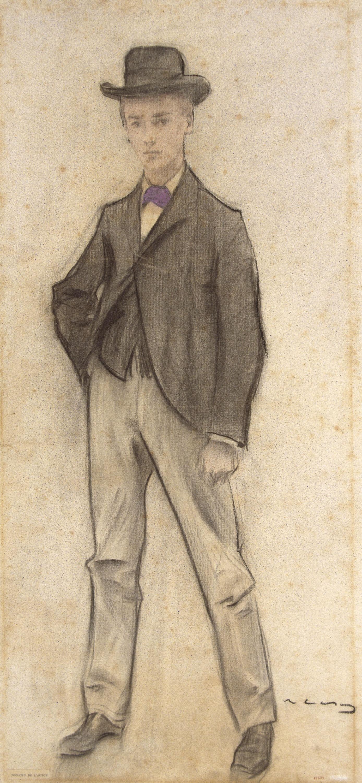 Ramon Casas - Retrat de Ramon Llisas - Cap a 1897-1899