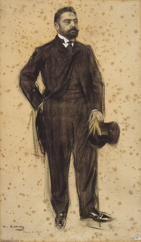 Ramon Casas - Portrait of Joaquim Cabot - 1900