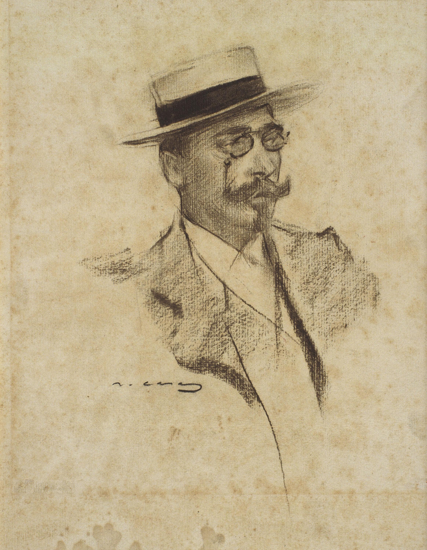 Ramon Casas - Retrat d'Henri François Roujon - 1901