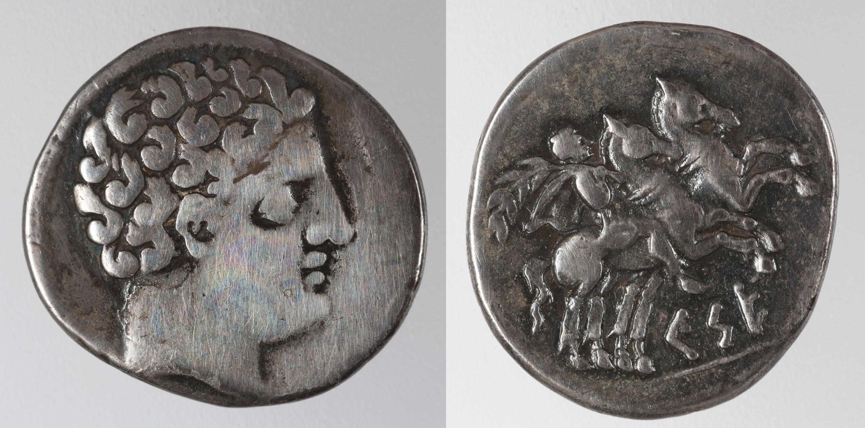 Kese - Denari de Kese - Segona meitat del segle II aC