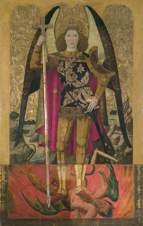 Jaume Huguet - Sant Miquel - Cap a 1455-1460