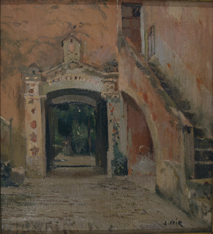 Joaquim Mir - Small Pink Courtyard - Circa 1920
