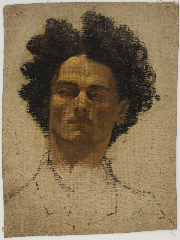 Ramon Amado - Study of a man's head - Rome, circa 1865-1871