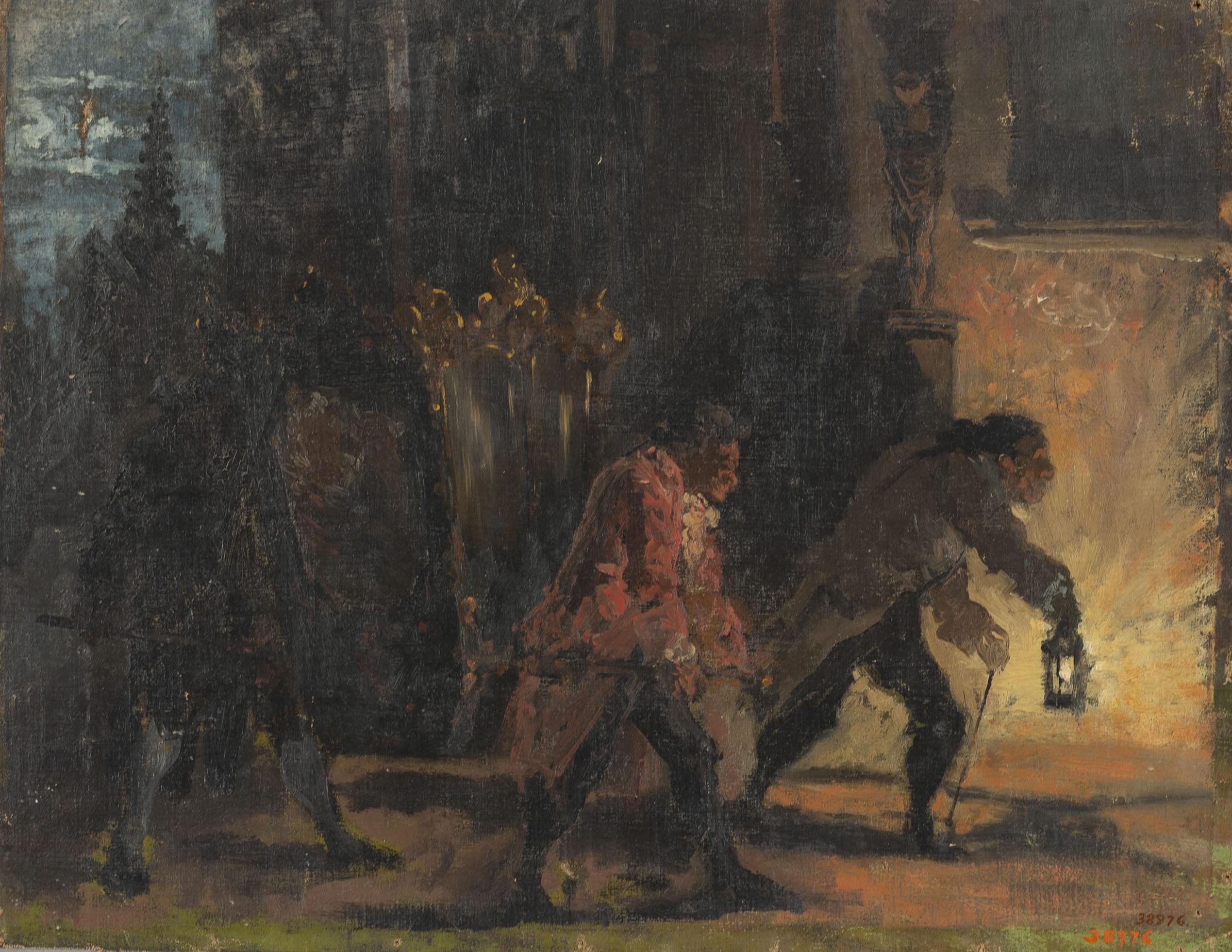 Ramon Amado - Escena nocturna - Cap a 1864-1888