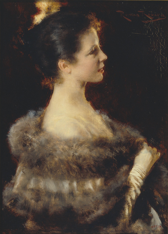 Romà Ribera - Dama amb vestit de nit - 1893