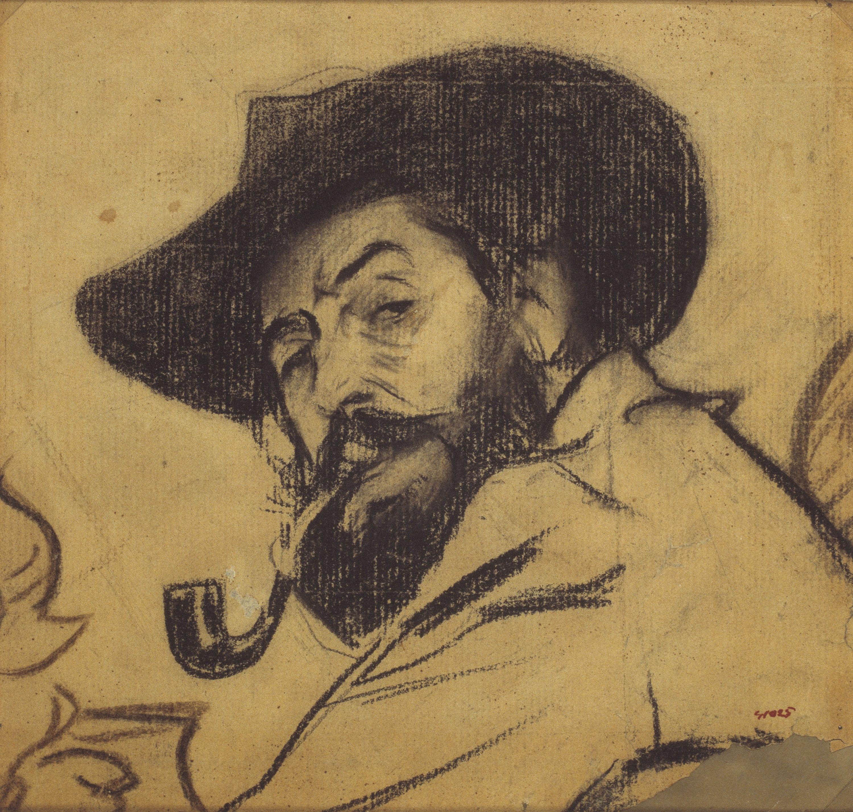 Ramon Casas - Retrato de Pere Romeu - Hacia 1897-1898