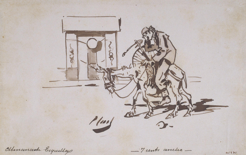 Ramon Casas - Ciclista. La tornada (Cyclist. Return trip) - Circa 1890