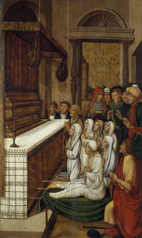 Perot Gascó - Resurrecció de sis morts davant les relíquies de sant Esteve - 1529-1546