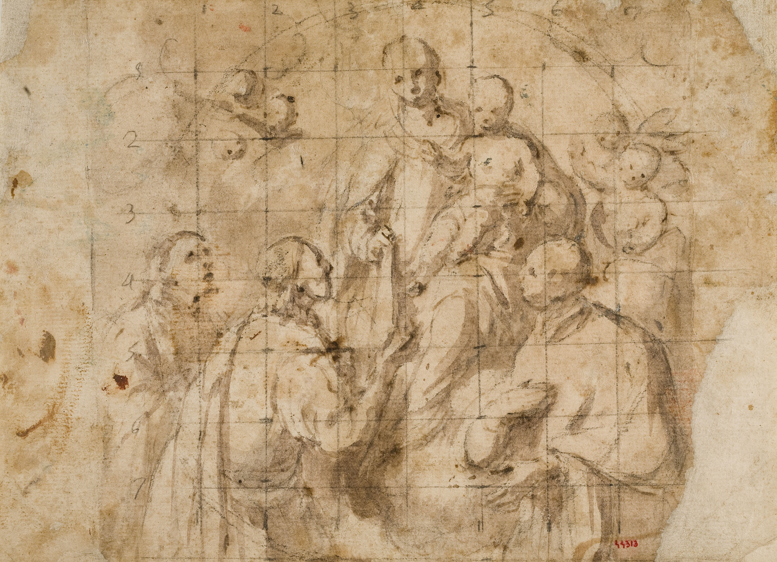 Antoni Viladomat - Study for the picture 'The Foundation of the Order of Mercy' - Circa 1730-1745