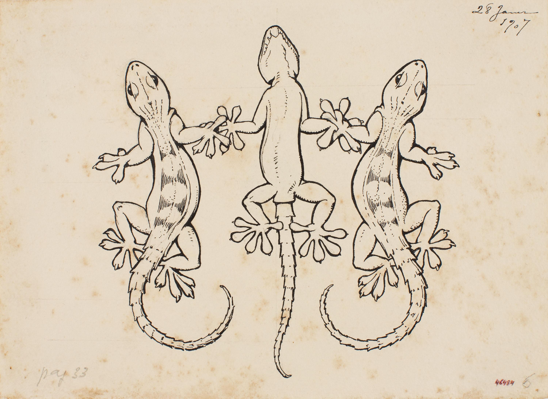 Apel·les Mestres - Tres salamanquesas en sardana. Marmosete para el poema «Liliana» de Apel·les Mestres  - 1907