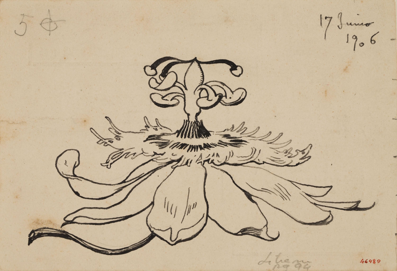 Apel·les Mestres - Passionera. Culdellàntia per al poema «Liliana» d'Apel·les Mestres - 1906
