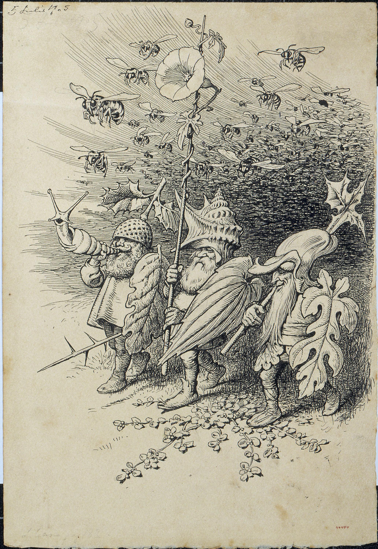 Apel·les Mestres - Armament. Il·lustració per al poema «Liliana» d'Apel·les Mestres - 1905
