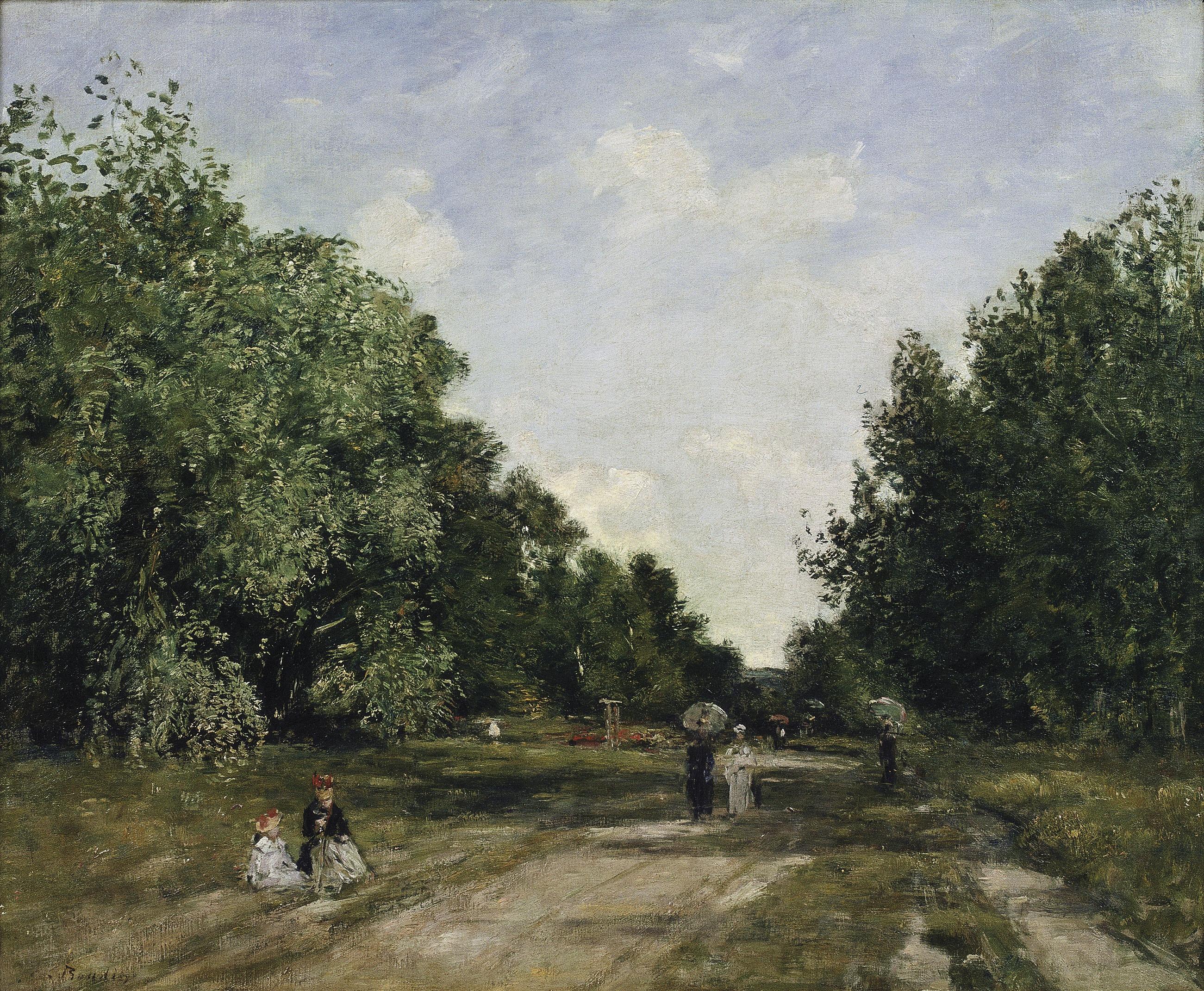 Louis-Eugène Boudin - El parc Cordier a Trouville - Cap a 1880-1885