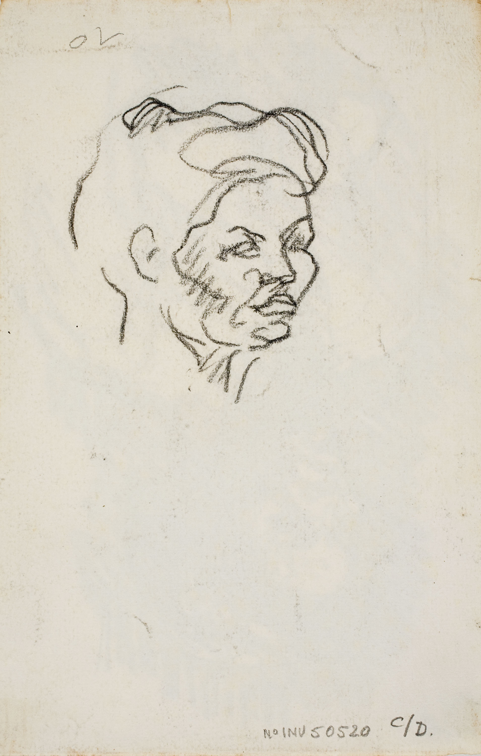 Isidre Nonell - Study of a head - Circa 1908
