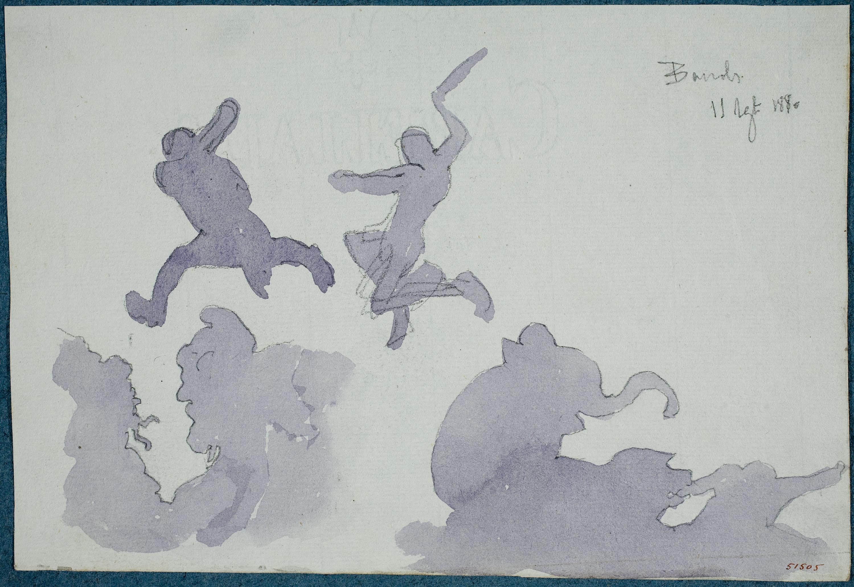 Apel·les Mestres - Posta de sol  - 1880