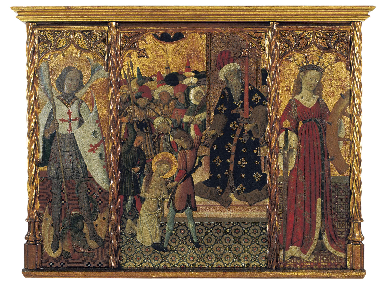 Bernat Martorell - Sant Miquel, martiri de santa Eulàlia i santa Caterina - Cap a 1442-1445