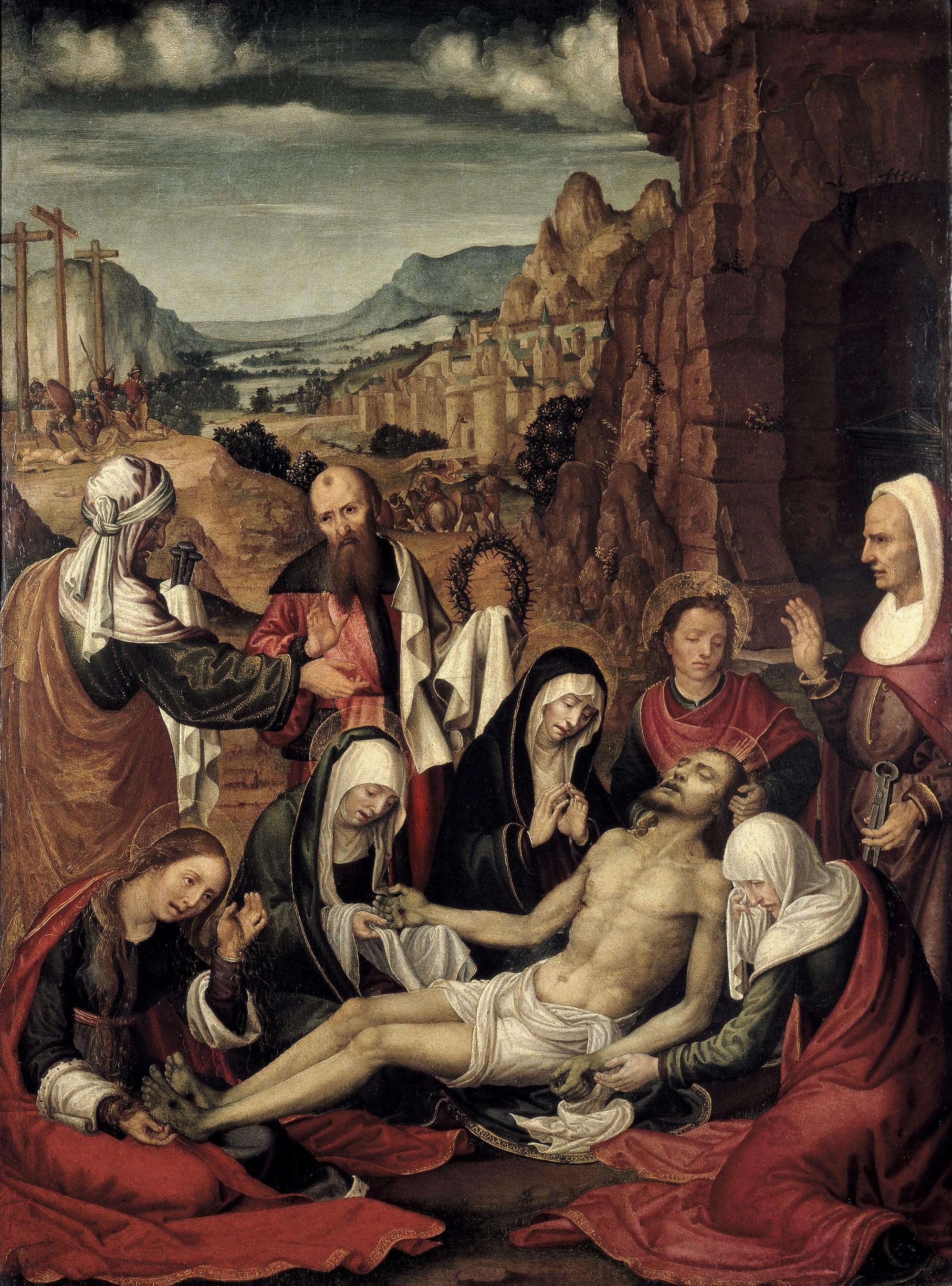 Paolo da San Leocadio - Plany sobre Crist mort - Cap a 1507