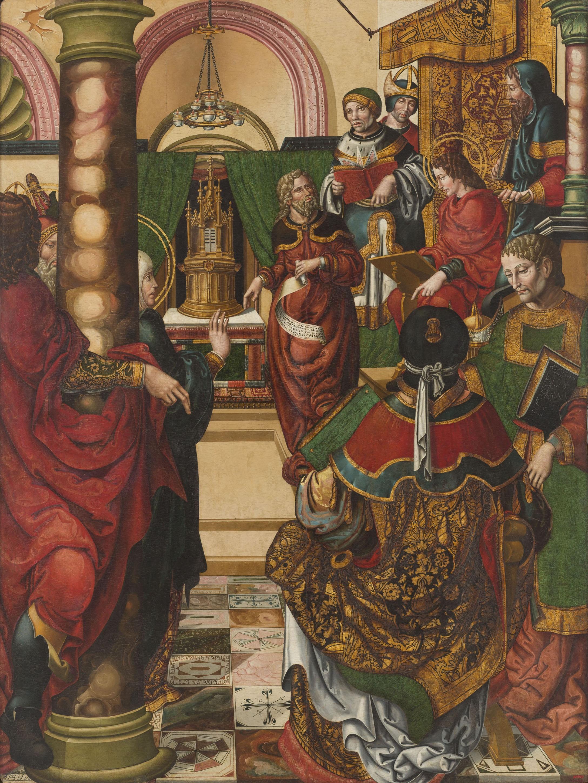 Mestre de Sixena - Jesús entre els doctors de la Llei - 1515-1519
