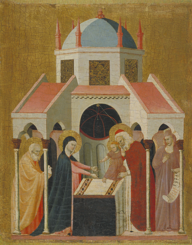Mestre de la Madonna Cini - Presentació de Jesús al Temple - Cap a 1330
