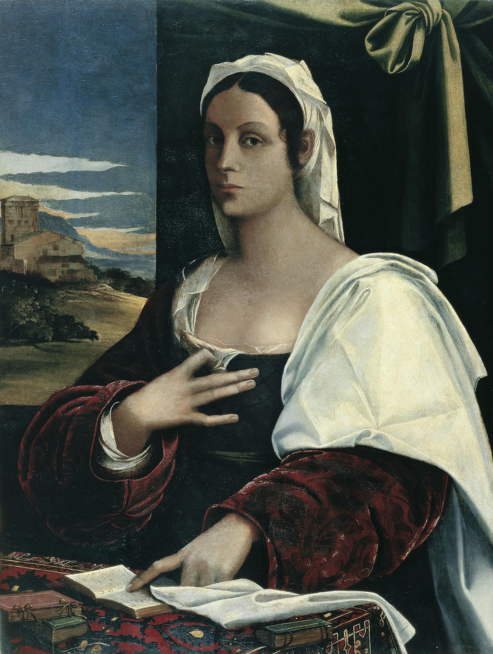 """Sebastiano Luciani dit """"Sebastiano del Piombo"""" - Vittoria Colonna [?] - 1520-1525"""