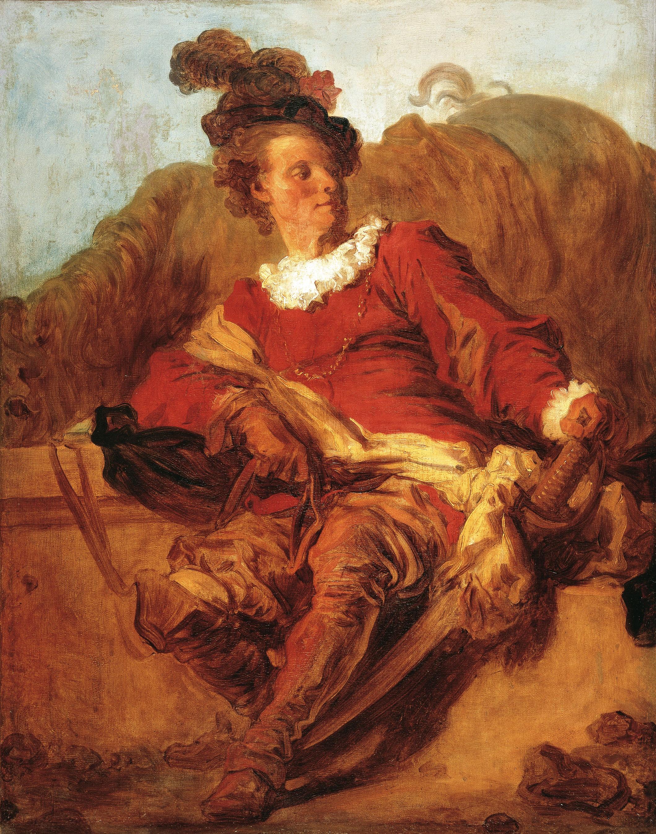 Jean-Honoré Fragonard - Retrat de Charles-Michel-Ange Challe (?) - Cap a 1769