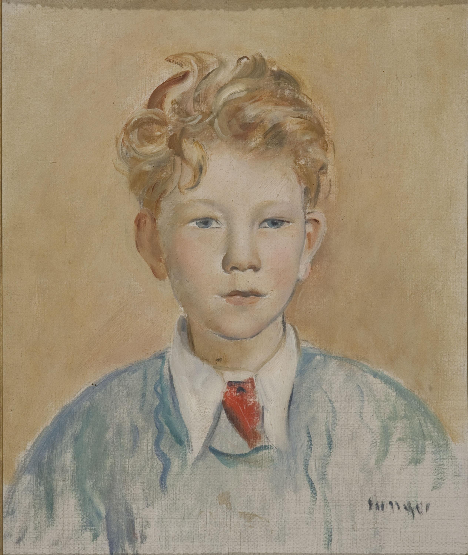 Joaquim Sunyer - Retrat de nen ros - París, 1940