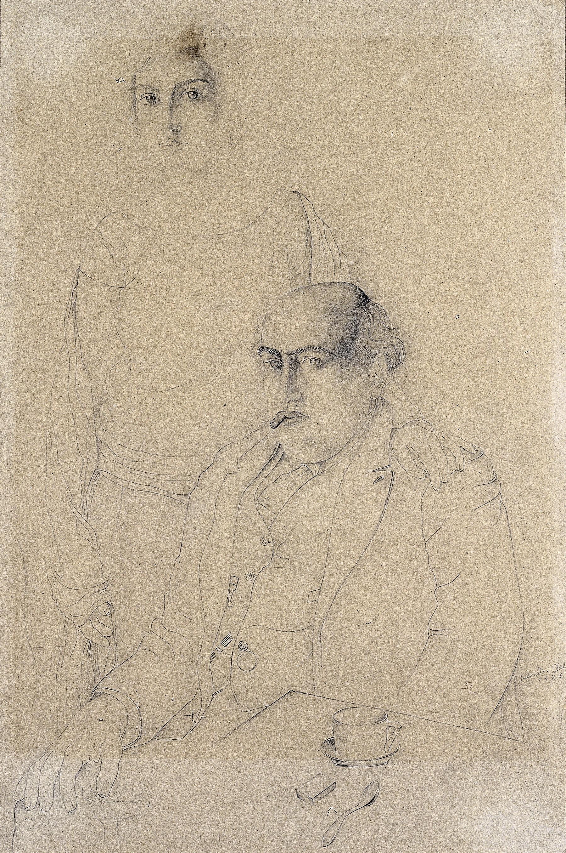 Salvador Dalí - Retrat del pare i la germana de l'artista - 1925