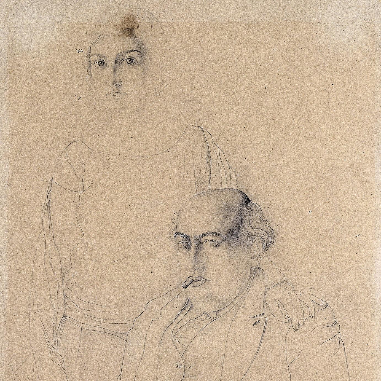 Retrat del pare i germana de l'artista