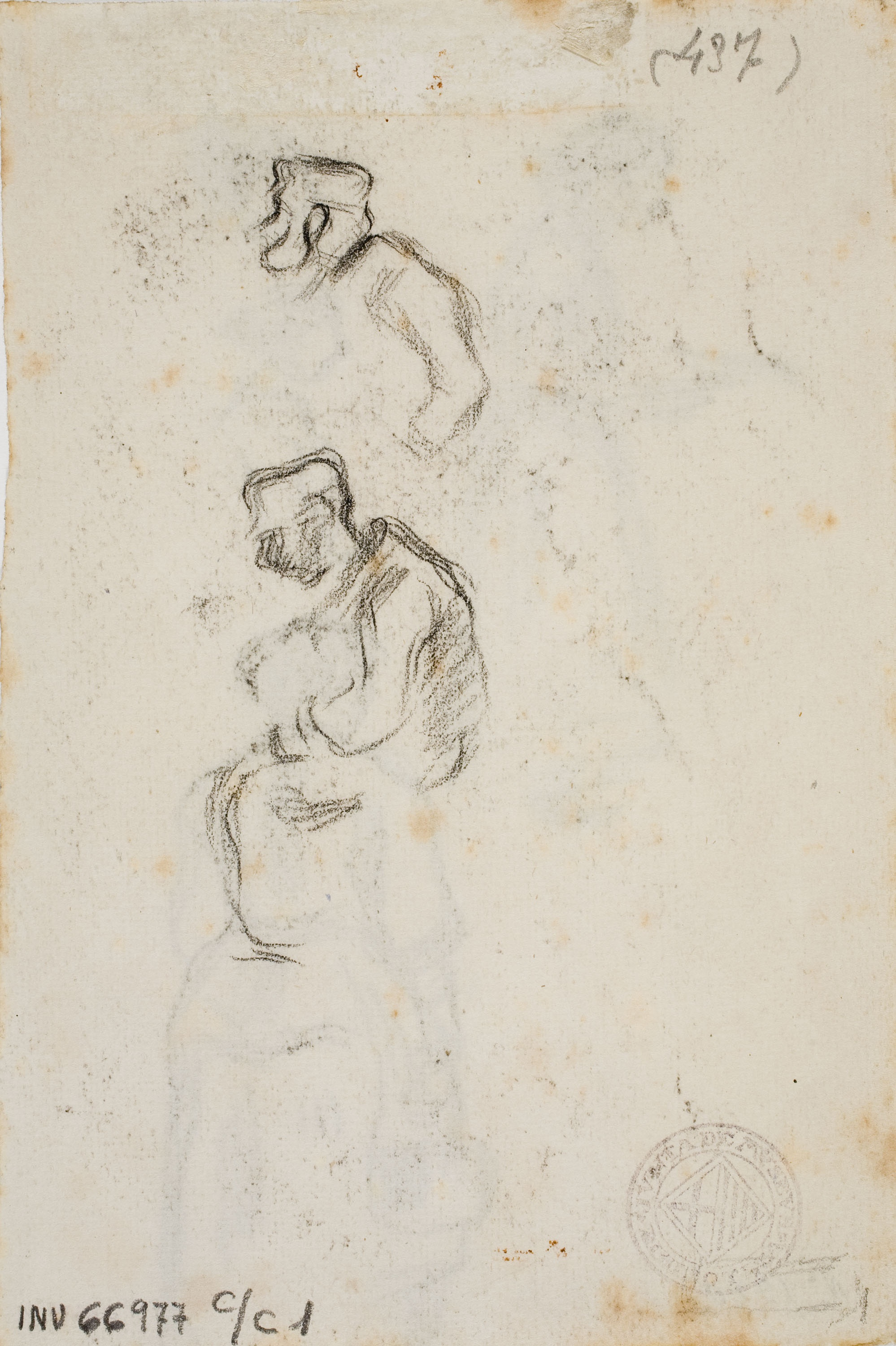Isidre Nonell - Sketches of heads - Circa 1894