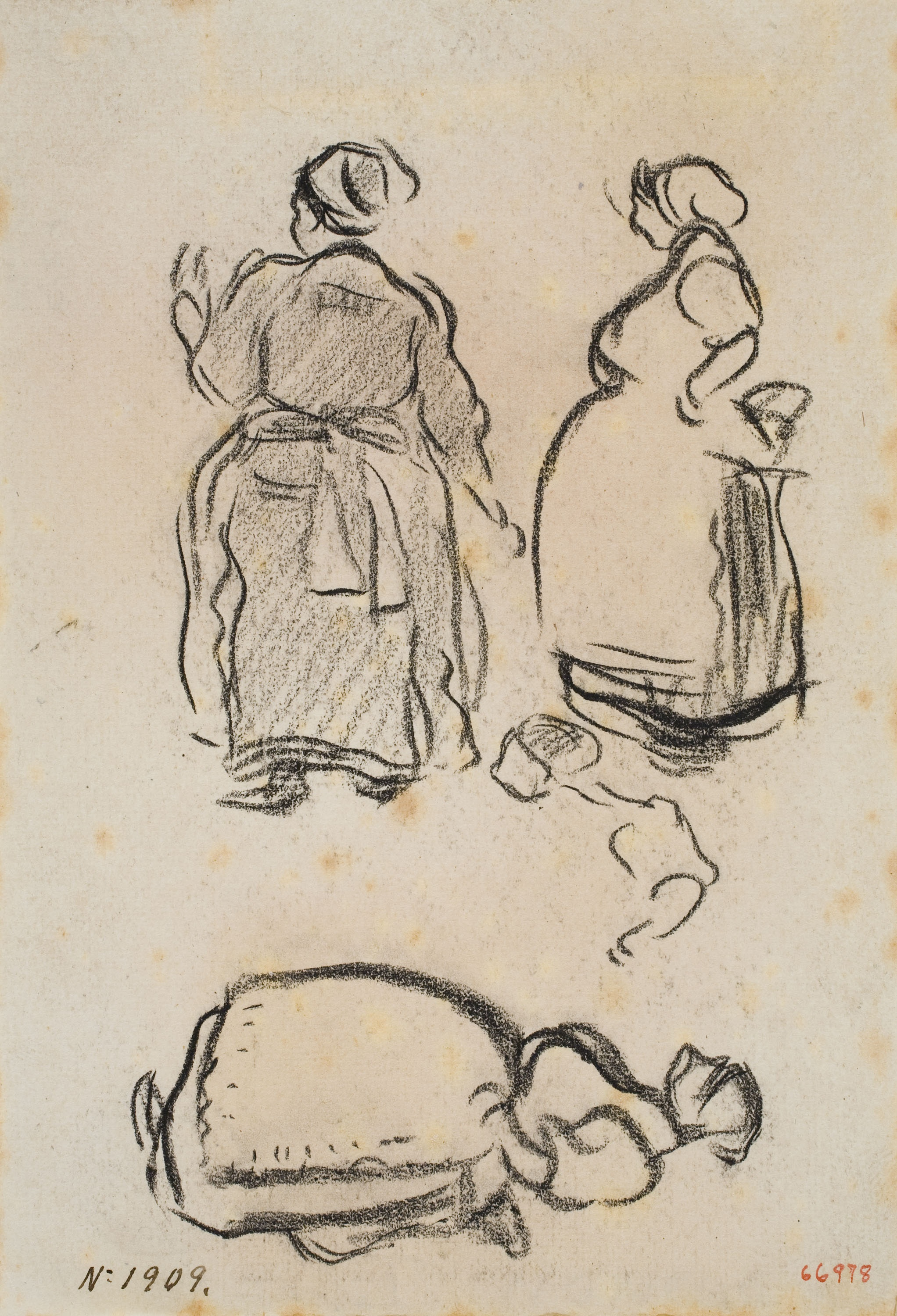 Isidre Nonell - Sketch of women - Circa 1894